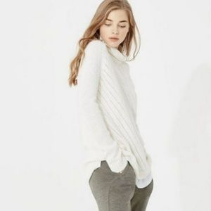 Lou & Grey wool alpaca turtleneck sweater